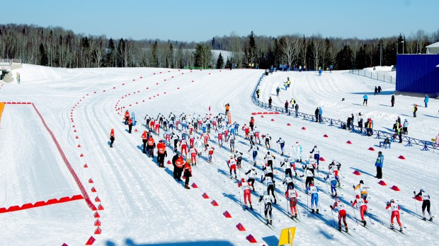 Smetanina skiing complex - mass start of the race