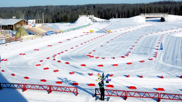 Smetanina skiing complex - starting module