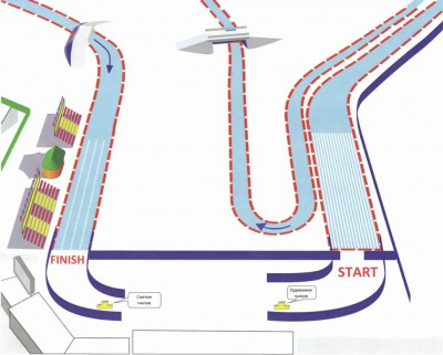 Start-Finish zone for distances 5 and 10 km