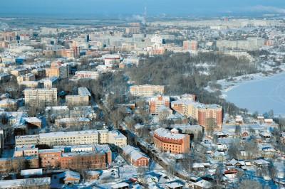 Зимняя панорама Сыктывкара
